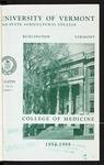 University of Vermont, College of Medicine Bulletin by University of Vermont
