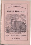 University of Vermont, College of Medicine Bulletin