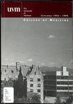 University of Vermont, College of Medicine Bulletin by University of Vermont