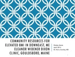 Community Resources for Elevated BMI in Downeast, ME by Nicolas Monte
