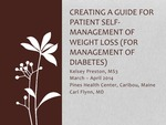 Creating a Guide for Patient Self-Management of Weight Loss (For Management of Diabetes)