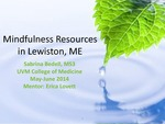 Mindfulness Resources in Lewiston, ME by Sabrina Bedell