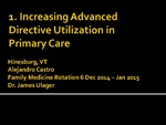 Increasing Advanced Directive Utilization in Primary Care