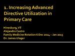 Increasing Advanced Directive Utilization in Primary Care