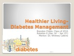 Healthier Living: Diabetes Management