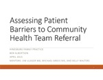 Assessing Patient Barriers to Community Health Team Referral