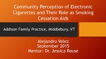 Community Perception of Electronic Cigarettes and Their Role as Smoking Cessation Aids by Alejandro Velez