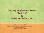 "Getting Real About Food: ""Fed Up"" & Nutrition Education"