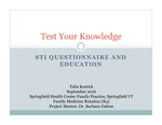 Test Your Knowledge: STI Questionnaire and Education by Talia Kostick