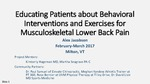 Educating Patients about Behavioral Interventions and Exercises for Musculoskeletal Lower Back Pain