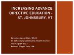 Advance Directive Initiative- St. Johnsbury, VT