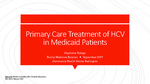 Primary Care Treatment of HCV in Medicaid Patients