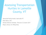 Assessing Transportation Hurtles in Lamoille County, VT