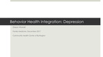 Behavior Health Integration: Depression