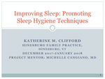 Improving Sleep: Promoting Sleep Hygiene Techniques