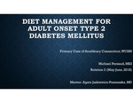 Diet Management for Adult Onset Diabetes Mellitus Type 2