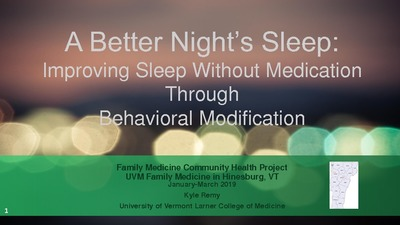 Family Medicine Clerkship Student Projects | Larner College