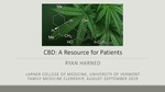 CBD: A Resource for Patients