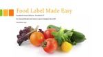 Food Label Made Easy