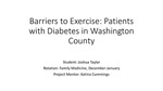 Barriers to Exercise: Patients with Diabetes in Washington County