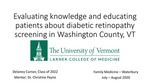 Evaluating knowledge and educating patients about diabetic retinopathy screening in Washington County, VT