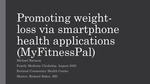 Promoting weight-loss via smartphone health applications (MyFitnessPal) by Michael S. Barnum