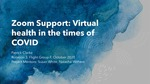 Zoom Support: Virtual health in the times of COVID