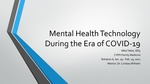 Mental Health Technology During the Era of COVID-19 by Michael Tabet