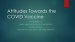 Attitudes Towards the COVID Vaccine