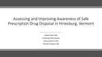 Assessing and Improving Awareness of Safe Prescription Drug Disposal in Hinesburg, Vermont