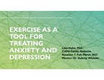 Exercise as a Tool for Treating Anxiety and Depression by Lizzi Hahn