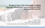 Kangaroo Care in the Community: Creating antenatal informational resources for providers and expectant parents by Emma Dunne