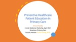 Preventive Healthcare Education in Primary Care by Anna B. Chamby