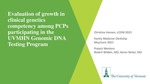 Evaluation of growth in clinical genetics competency among PCPs participating in the UVMHN Genomic DNA Testing Program