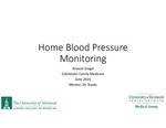 At Home Blood Pressure Monitoring by Aneesh Singal