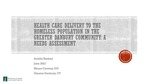 Health Care Delivery to the Homeless Population in the Greater Danbury Community: A Needs Assessment by Ariella Yazdani