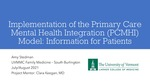 Implementation of the Primary Care Mental Health Integration (PCMHI) Model: Information for Patients