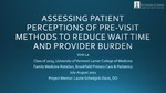 Assessing Patient Perceptions of Pre-Visit Methods to Reduce Wait Time and Provider Burden