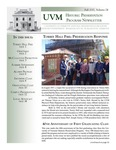 Historic Preservation Program newsletter by Historic Preservation Program newsletter