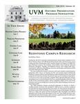 UVM Historic Preservation Program Newsletter